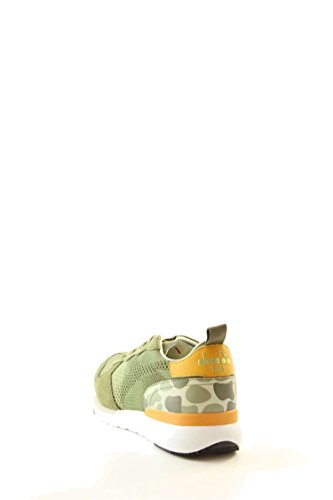 Calzature Uomo DIADORA trident evo light in pelle scamosciata e jacquard, suola in gomma ed E.V.A., plantare removibile in pelle Verde