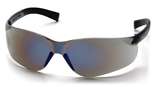 Lens Blue Mirror Ztek - (12 Pair) Pyramex Mini Ztek Glasses Blue Mirror Frame/Blue Mirror Lens (S2575SN)