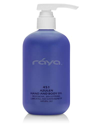 RAYA Azulen Hand and Body Oil 16 oz 451 Softening and Natural Blend of Oils for Hands, Arms, Legs, and Body Great as a Body Massage Oil Great for All Skin