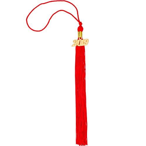 TecUnite Graduation Tassel Academic Graduation Tassel with 2019 Year Charm Ceremonies Accessories for Graduates (Red) - Graduation Hat Tassel