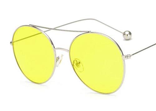 air soleil unisexe Mode conduite en de FlowerKui protection de lunettes de lunettes nuit UV400 plein lunettes Silver jaune de Af1v55wdqR