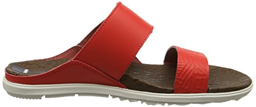Bout Print Eu fiery Rouge Merrell Incandescent Town 42 Buckle Slide Red Around Femme Sandales Ouvert xIF4qfYw