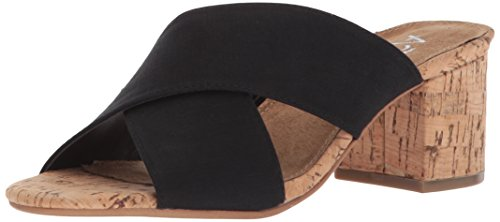Aerosoles Slide Midday Women's Black Fabric Sandal rraw1nPEqx