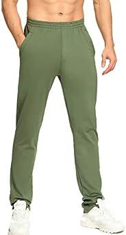 Starlemon Men's Sweatpants with Zipper Pockets Tapered Athletic Pants for Men Jogging Running Wor