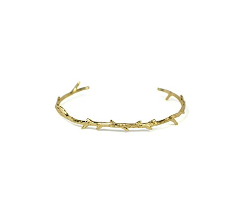 Gold Twig Bangle Bracelet