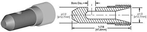 Kennametal 1919023 1//8 Bore Dia Triple Outlet T190 Series tungsten carbide 90 Deg angle nozzle