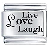 Live Love Laugh Laser Etched Italian Cha