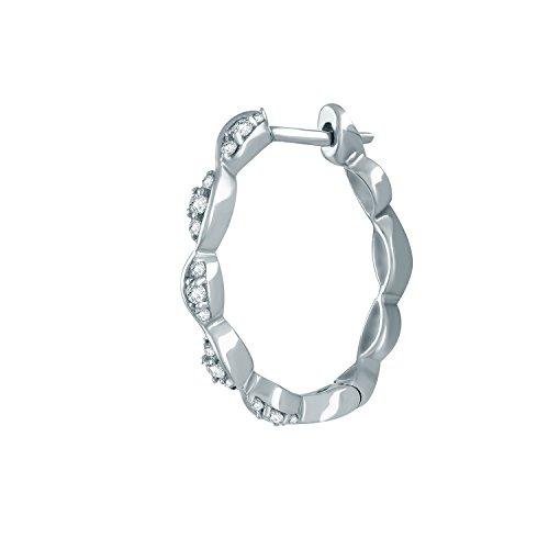 Giantti Diamant pour femme Boucles d oreilles créoles (0.25 CT, qualité  HSI, ... 9f320468e96e