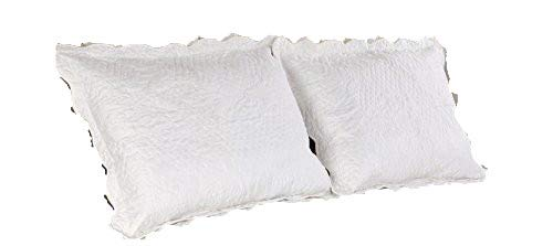 ALL FOR YOU 2-Piece Embroidered Pillow Shams-King Size (King, Off -