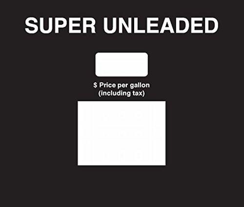 SB-185 - Super Unleaded Soda Button Overlay Black