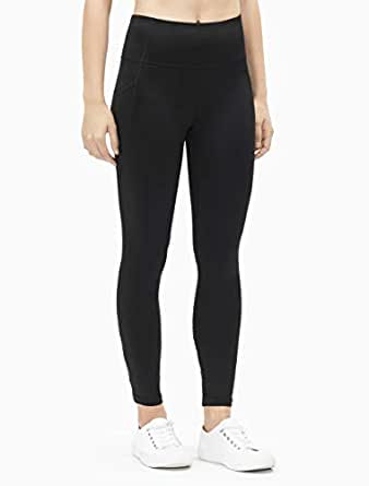 Calvin Klein Women's High Waist Side Pocket 7/8 Tights, Black Combo, XS