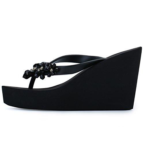 0f4d552ecd62 IDIFU Women s Sweet Flowers Wedge Platform Thong Sandals Flip - Import It  All