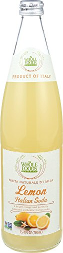 Whole Foods Market, Lemon Italian Soda, 25.4 fl oz