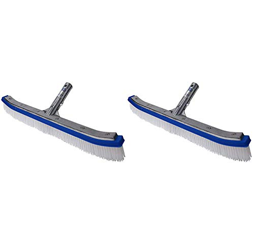 (Blue Devil Pool Wall Brush Deluxe with Poly Bristles - 18