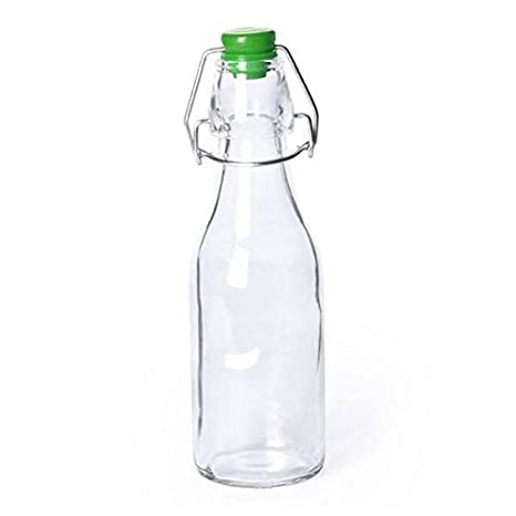 Eurowebb Botella de Cristal a la Antigua con tapón - Botella para ...