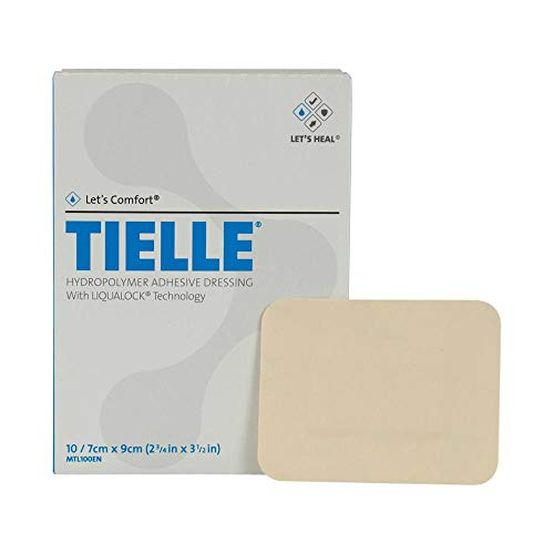 Tielle Hydropolymer Adhesive Dressings - TIELLE Hydropolymer Adhesive Dressing, MTL102, 5.9