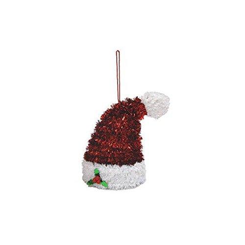 amscan Hanging Tinsel 3-D Santa Hat | Christmas ()