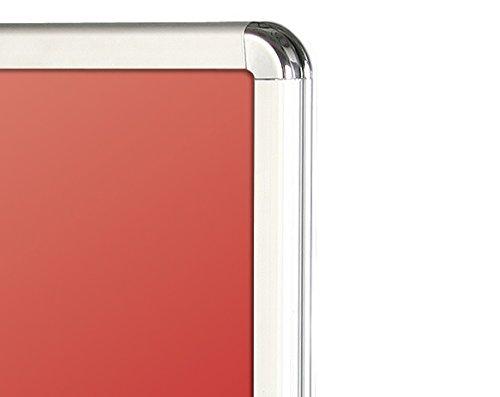 /Premium calidad doble cara impermeable a prueba de viento resorte aluminio publicidad Junta para/ Estaciones de Servicio Pesado EasySnap A1/Pavement Snap marco A-Board carteles cartel plata