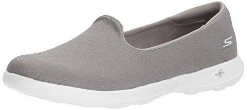 Skechers Mujeres Go Walk Lite-15411 Loafer Flat Grey