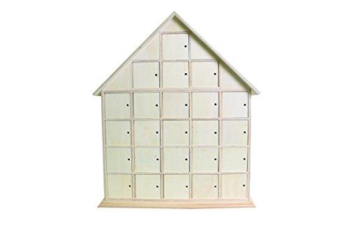 Artemio 14001417 Wooden Advent Calendar To Decorate House-44.5cmx 35cmx 7Cm