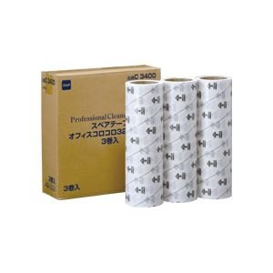 ニトムズ オフィスコロコロ スタンダード スペアテープ 幅320mm×40m巻 C3400 1パック(3巻) 生活用品 インテリア 雑貨 文具 オフィス用品 テープ 接着用具 top1-ds-969034-ah [簡素パッケージ品]   B01N4T40JA