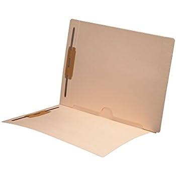delicate 11 pt Manila Folders, Full Cut End Tab, Letter Size, Full Open Bottom Back Pocket, Fasteners Pos #1 & #3 (Box of 50)