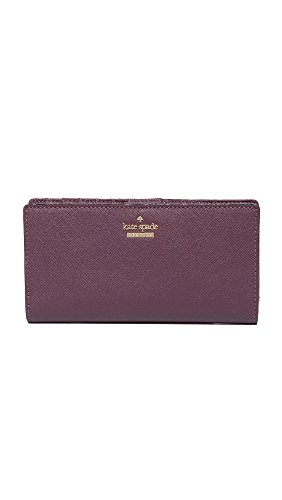 Kate Spade New York Women's Cameron Street Stacy Wallet, Deep Plum, One Size by Kate Spade New York