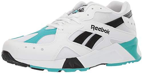 Reebok AZTREK Sneaker, White/Solid Teal/Black, 9.5 M US -