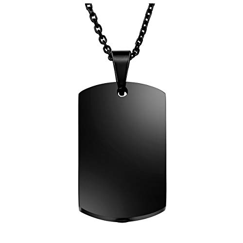 PiercingJ Personalized Custom Name Anniversary Calendar Stainless Steel Military Dog Tags ID Pendant Urn Memorial Container Necklace Ash Keepsake Cremation Jewelry, - Custom Dog For Men Tags