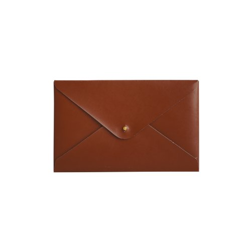 Paperthinks 7.5 x 4.7 Inches Shiny Tan Recycled Leather Small Folder (PT01912)