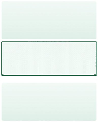 (500 Blank Laser/Computer Checks Middle Style (Green Safety))
