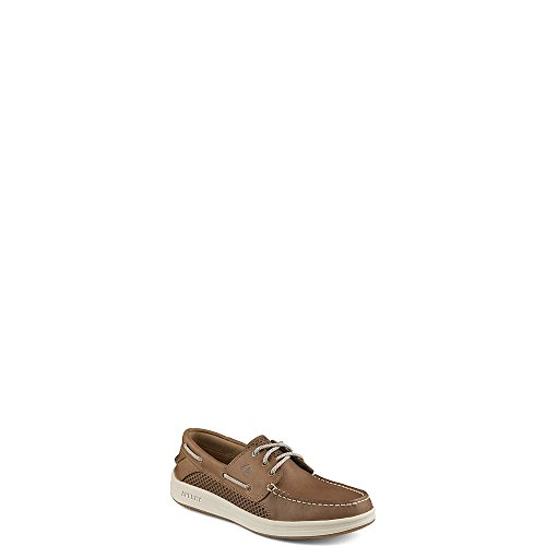 Sperry Top-Sider Men's Gamefish 3-Eye Boat Shoe, Dark Tan, 14 Medium US Eyelet Mens Shoe