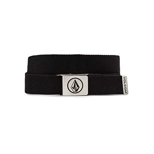 Volcom Men's Circle Web Belt, Black, One Size - Circle Handle