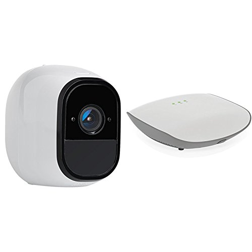(NETGEAR Flexpower 1 Camera Onvif Security System - 1 Indoor/Outdoor Wire-Free Camera with Night Vision and 1 Flexpower Base Station (VNC4030 + VNB4000))
