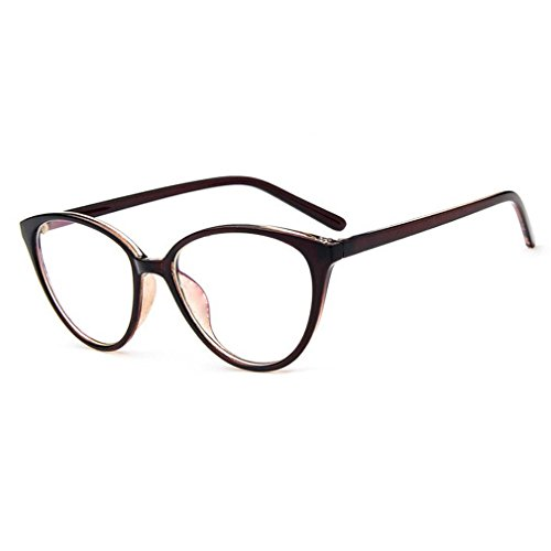 College Style Classic Myopia Clear Lens Eyeglasses Cateye Reading Glasses - Size Guide Frame Spectacle