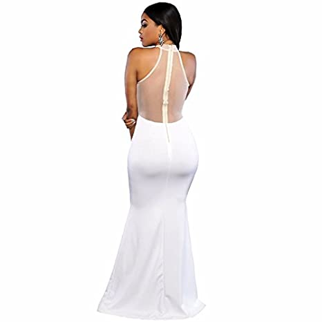 Vestidos de Fiesta de Noche Elegantes De Mujer Casuales Largos para Prom Quinces Bodas VE0021 at Amazon Womens Clothing store: