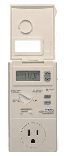 Lux WIN100-A05 Heating & Cooling Programmable Outlet Thermostat