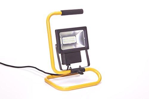 LED Baustrahler mit Netzkabel spritzwassergeschützt 1600 Lumen bei 20W