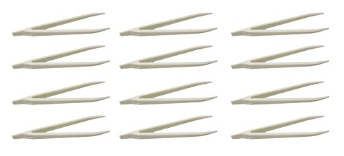 Curious Minds Busy Bags BULK - Set of 12 Plastic Tweezers for Children - Fine Motor Tools, Occupational Therapy, Special Needs, Sensory Bin, Preschool Tools
