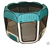Large Teal Pet Tent Exercise Pen