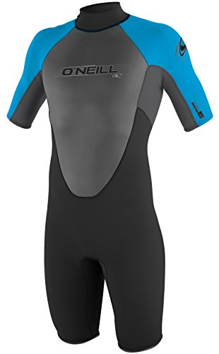 O'Neill Wetsuits Men's 2mm Reactor Spring Suit, Black Smoke Tahiti, - Wetsuit Men
