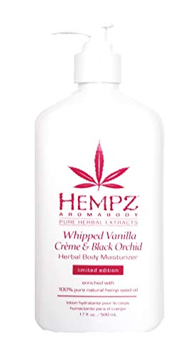 HEMPZ Whipped Vanilla Creme Black Orchid Herbal Body Moisturizer – LIMITED EDITION 17oz