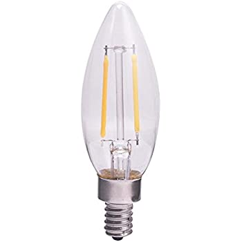 Utilitech 6-Pack 40 W Equivalent Dimmable Soft White B10 Vintage LED Decorative Light Bulb
