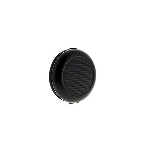 Sunnyshinee Dispensador de monedas de aluminio con espejo cosmético (negro)