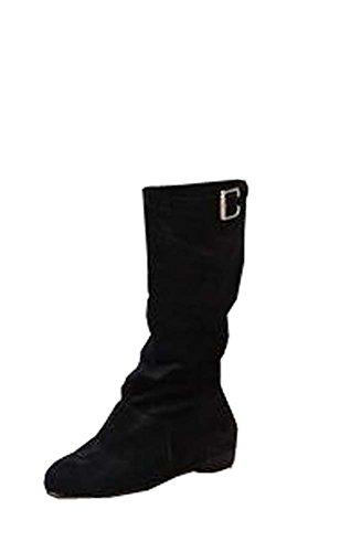 Stiefel Schwarz Ritter Hohen Stiefeln Ethnische Schuhe Damen