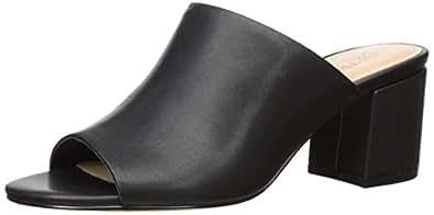 The Drop Berlin Block Heel Sandal, Black, 6