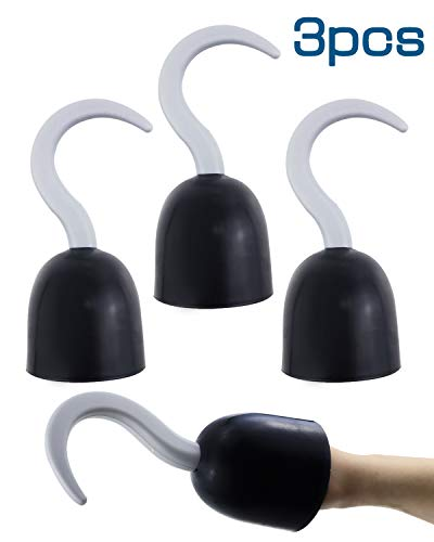Agreatca 3 pcs Pirate Hooks,Pirate Captain 8