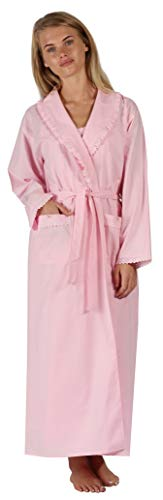 The 1 for U Womens Robe Housecoat 100% Cotton Abigail (XXL, Pink)