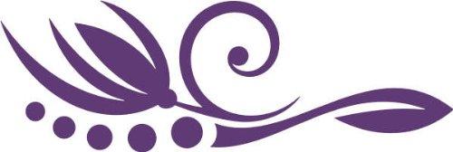WANDTATTOO / Wandaufkleber f47 wunderschöne Blume mit Ranke mit stylischen Kugeln 240x80 cm - violett