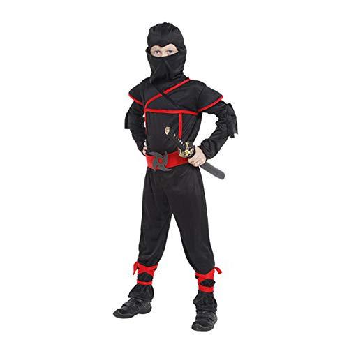 Happytime Boys Halloween Ninja Costume Sets 2018 Ninja Halloween Cosplay Dress Up Costume Sets for Boys Toddler
